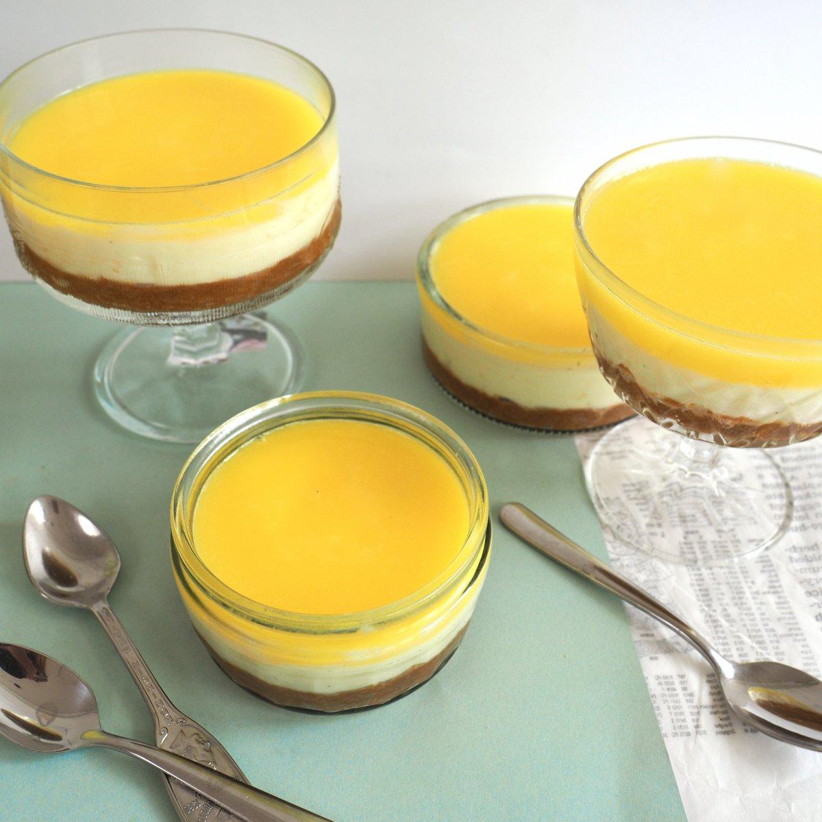 Glutenvrije citroen cheesecake dessert