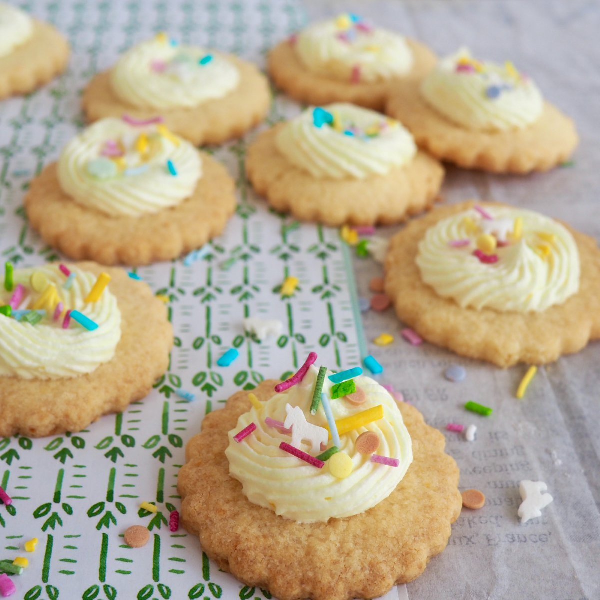 Glutenvrije crème feest koekjes