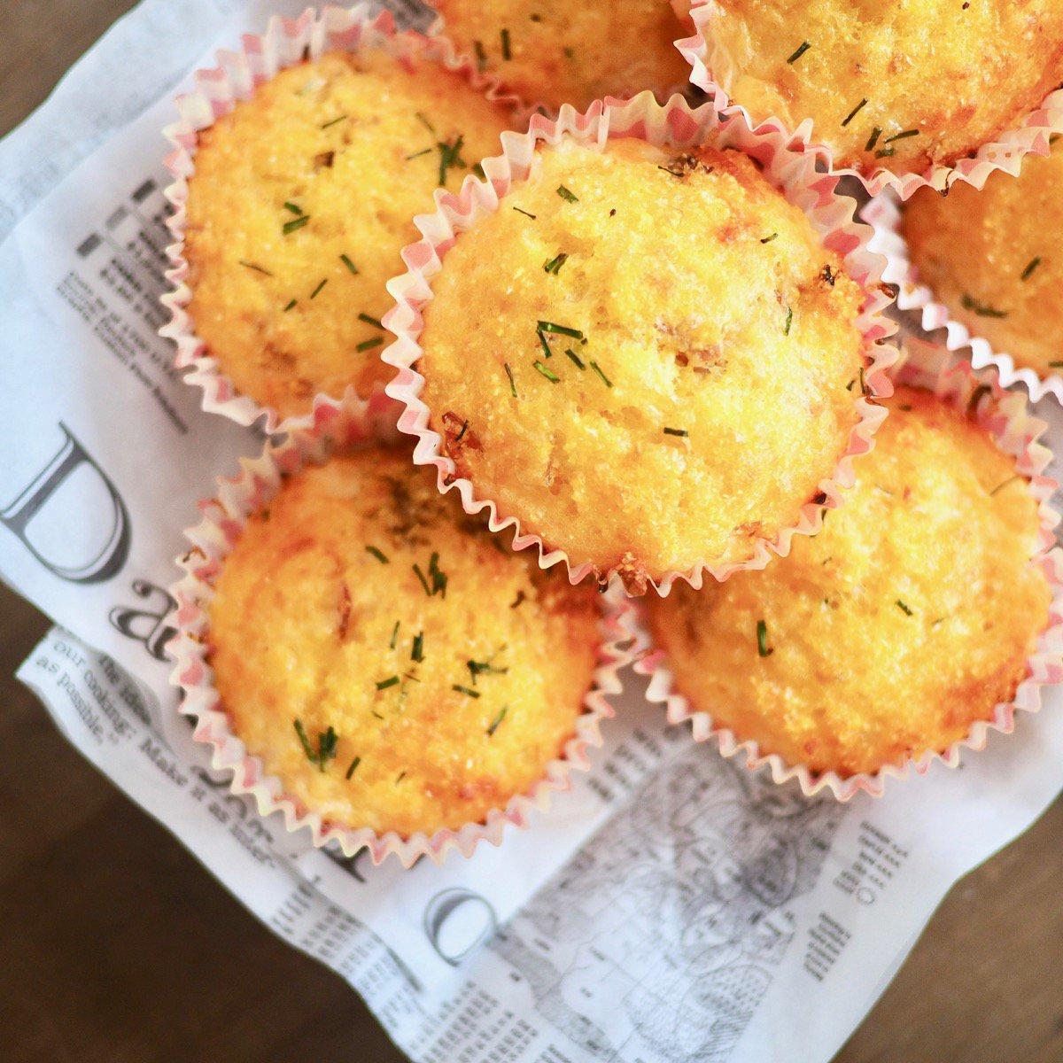 Glutenvrije kaasmuffins met serranoham