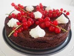 Foto van een glutenvrije zachte chocoladetaart