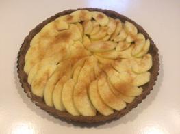 Glutenvrije appel speculaaskoek met appelpartjes