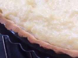 Glutenvrije rijstevlaai met kersen