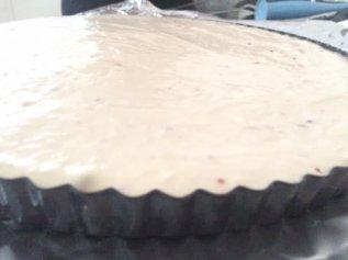Foto van het beslag van de cheesecake