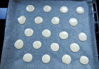 Foto van deeg voor vanillemakarons (glutenvrij)