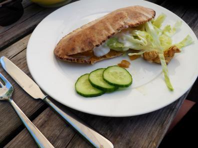 Broodje glutenvrije kipshoarma