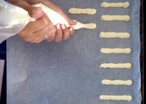 Foto van glutenvrije lange vingers