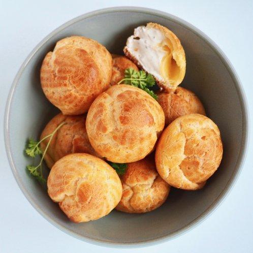 Glutenvrije hartige roomkaas soesjes
