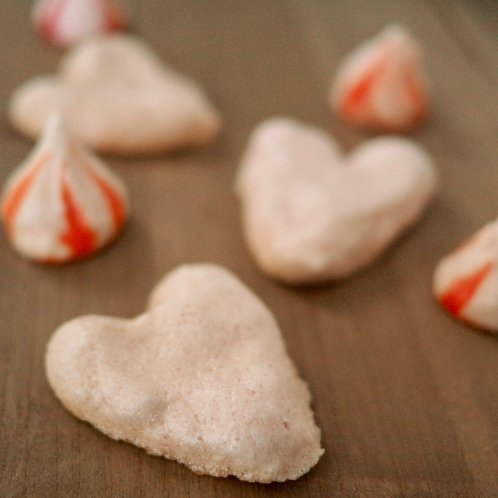 Meringue schuimpjes voor Valentijnsdag of moederdag
