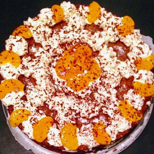 Glutenvrije speculaas kwarktaart met mandarijntjes