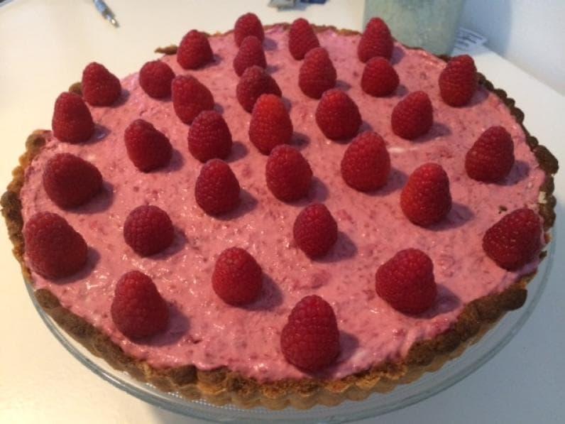 Glutenvrije frambozencheesecake met mascarpone