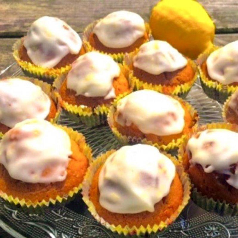 Glutenvrije Citroen Muffin met Lemon Curd