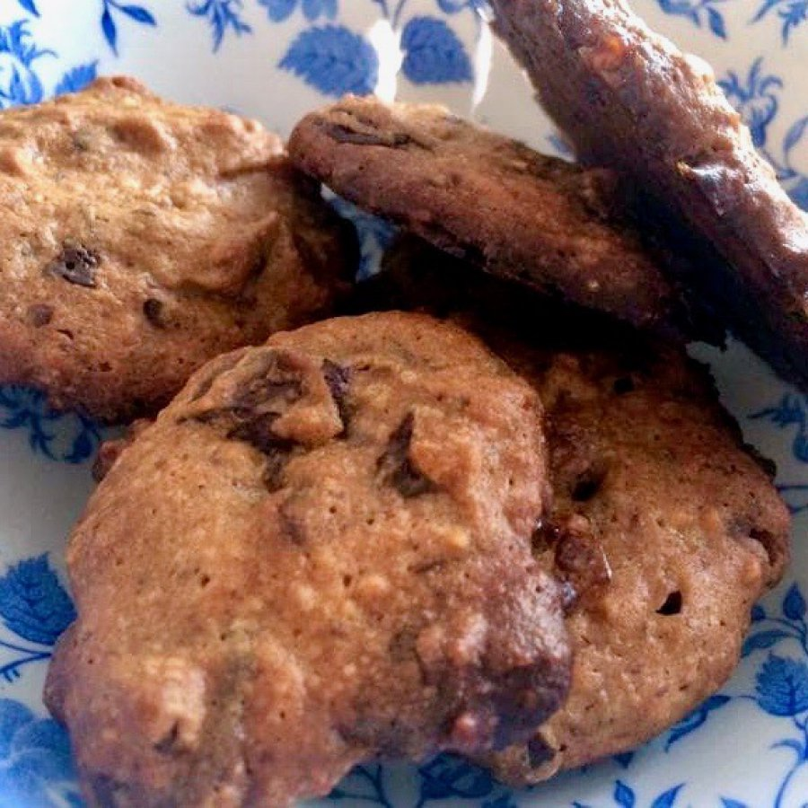 Glutenvrije chocolade-pindakaaskoekjes met karamel