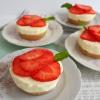 Kleine glutenvrije aardbeien gebakjes